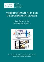 verification of nuclear weapon dismantlement - Pugwash UK