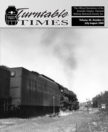 July-Aug. 2008 - Roanoke Chapter National Railway Historical Society