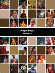 Prayer Focus Myanmar