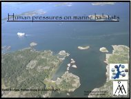 Human pressures on marine habitats - PREHAB