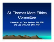download the Ethics Committee presentation here - Centura News
