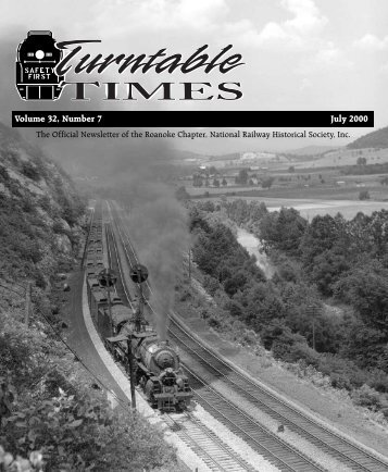 July 2000 - Roanoke Chapter National Railway Historical Society