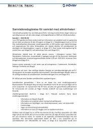Samrådsredogörelse för samråd med allmänheten - Bergvik Skog ...