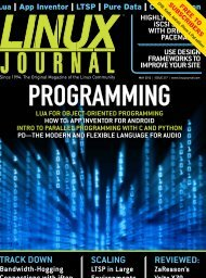 Linux Journal | May 2012 | Issue 217 - ACM Digital Library