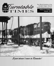 January 2003 - Roanoke Chapter National Railway Historical Society