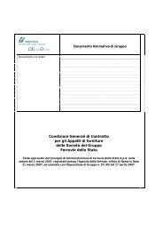 Condizioni Generali di Contratto per gli Appalti di ... - Gare di Trenitalia