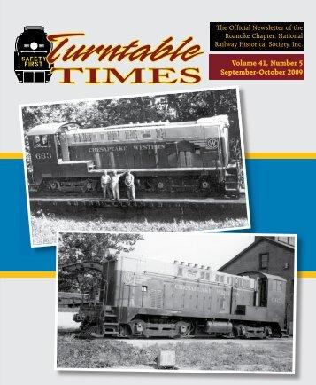 Sept-October 2009 - Roanoke Chapter National Railway Historical ...