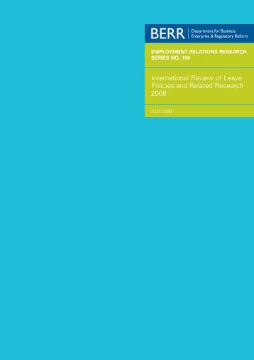 International Review of Leave Policies and Related Research 2008
