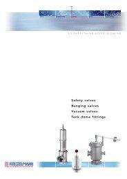 Safety valves Bunging valves Vacuum valves Tank dome ... - Auspol