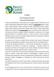 """Progetto """"Via Francigena del Sud"""" - Parco Regionale dei Castelli ..."""