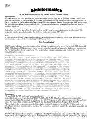 Bioinformatics - Ontario Genomics Institute