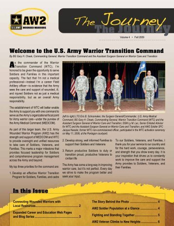 Volume 4, Fall 2009 - Warrior Transition Command - U.S. Army