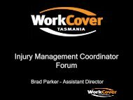 Work - Injury Management Co-ordinator Presentation - WorkCover ...
