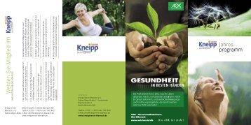 Flyer 2012 - Kneipp-Verein Biberach eV