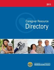 Caregiver Resource Directory - Warrior Transition Command - U.S. ...