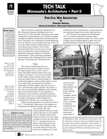 Post-Civil War architecture - Minnesota Historical Society