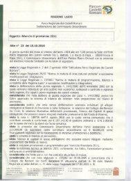 Deliberazione n. 23 __del 15 ottobre 2010 - Parco Regionale dei ...