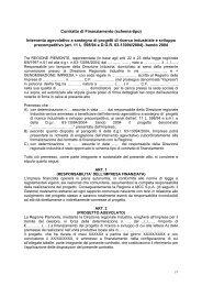 Schema contratto di finanziamento - mediocredito centrale - incentivi ...
