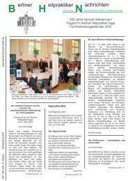 Berliner Heilpraktiker Nachrichten