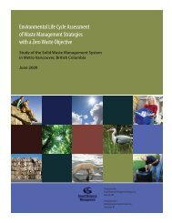 Environmental Life Cycle Assessment of Waste ... - Wastech