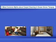 5 Most Common Myths about Carpet Cleaning in Ocean Grove/ Torquay
