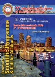 Updated June 5 th 2012 - International Society of Neuroimmunology