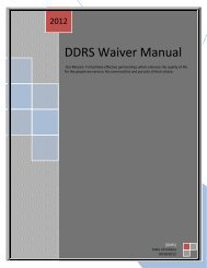 DDRS Waiver Manual 2012 - State of Indiana