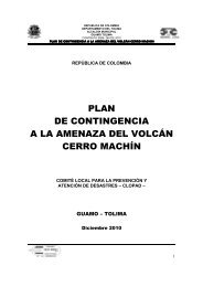 plan de contingencia a la amenaza del volcán cerro machín