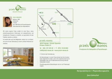 Download Flyer - praxis-manos, Heilpraktikerin