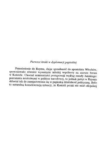 Pierwsze kroki w dyplomacji papieskiej - Zmartwychwstańcy