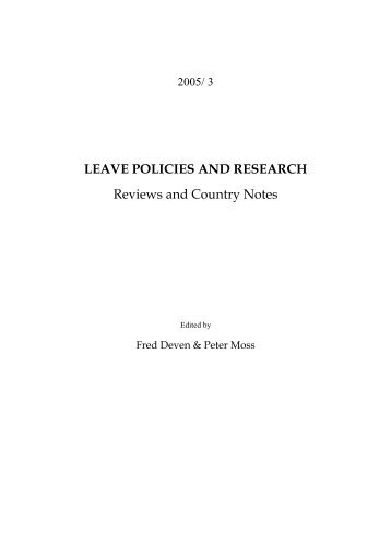 2005 - International Network on Leave Policies and Research