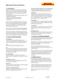 DHL General Terms & Conditions
