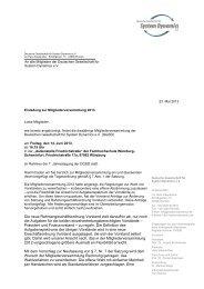 Einladung MV 2013 - Deutsche Gesellschaft für System Dynamics eV