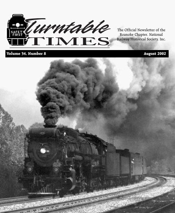 August 2002 - Roanoke Chapter National Railway Historical Society