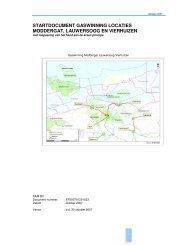 startdocument gaswinning locaties moddergat, lauwersoog en ...