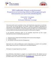 ISW-Conferentie: Wanneer werkt diversiteit ... - Innovatief in Werk