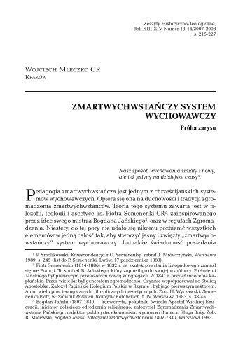 zmartwychwstańczy system wychowawczy - Biblioteka Internetowa ...