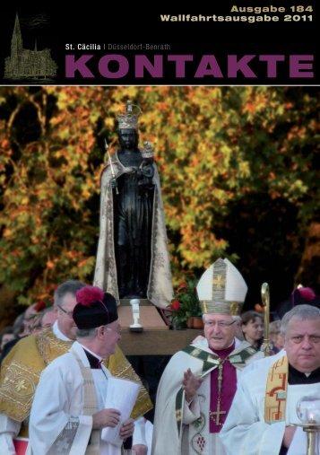 Kontakte Nr. 184 / Wallfahrtsausgabe 2011 - Katholische ...
