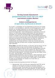 Anders (re)Organiseren - Innovatief in Werk