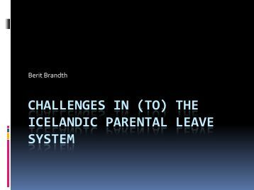 (to) the icelandic parental leave system