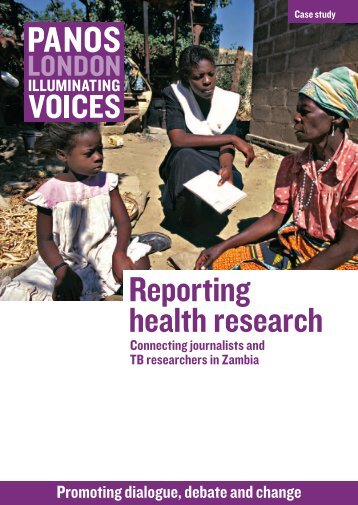 Reporting health research: Connecting journalists and TB ...