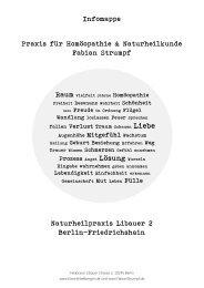 Infomappe Praxis für Homöopathie & Naturheilkunde Fabian ...