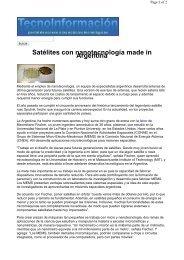 Satélites con nanotecnología made in Argentina - Instituto Argentino ...
