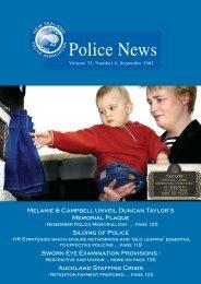 Police News Sept - New Zealand Police Association