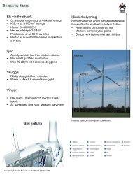 Vindkraftteknik - Bergvik Skog informerar om vindkraft
