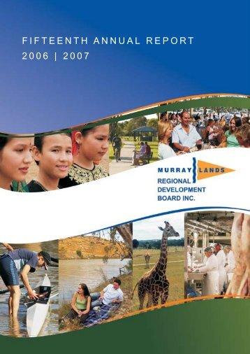 fifteenth annual report 2006   2007 - RDA Murraylands & Riverland Inc