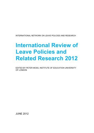 2012 - International Network on Leave Policies and Research