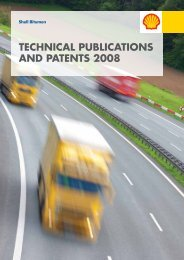 Shell Bitumen - Technical Publications and Patents 2008