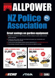 Great savings on garden equipment - New Zealand Police Association