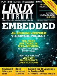 Linux Journal | September 2012 | Issue 221 - ACM Digital Library